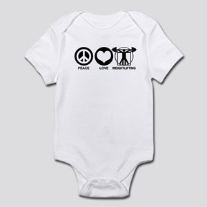 Peace Love Weightlifting Infant Bodysuit