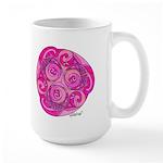 Celtic Rose TriSpiral Large Mug