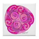 Celtic Rose TriSpiral Tile Coaster