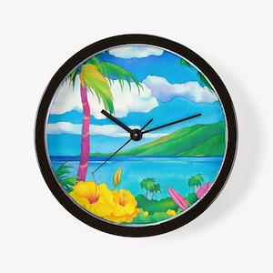 Sunny Maui Wall Clock