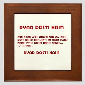 Pyaar Dosti Hain Framed Tile
