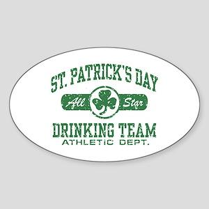 St. Patrick's Day Drinking Sticker (Oval)
