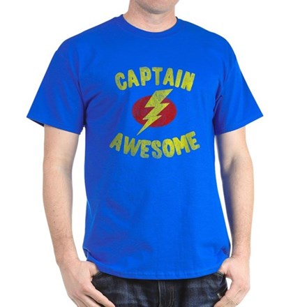dc7ccf03 Captain Awesome Dark T-Shirt from FlippinSweetGear
