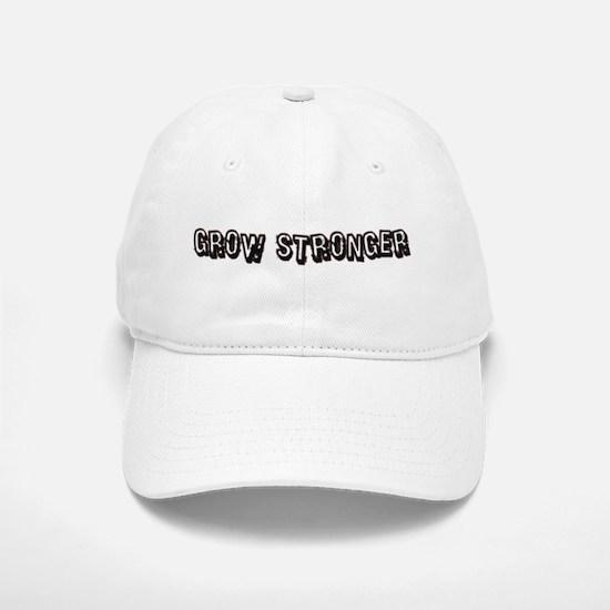 Grow Stronger Baseball Baseball Cap