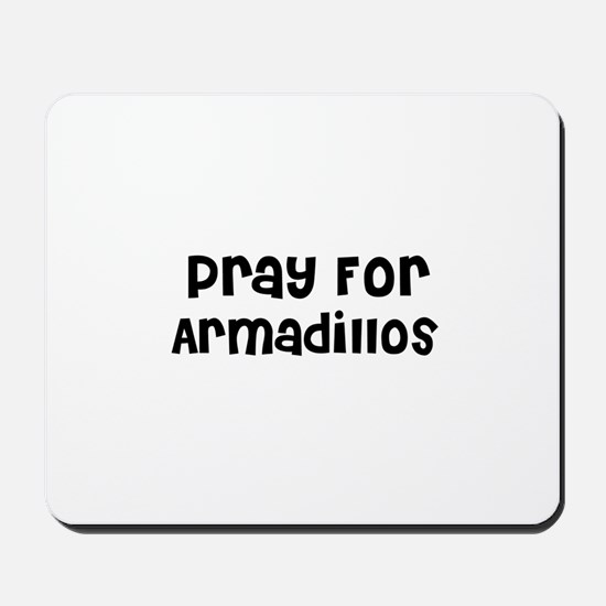 Pray For Armadillos Mousepad