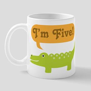 Alligator 5th Birthday Mug