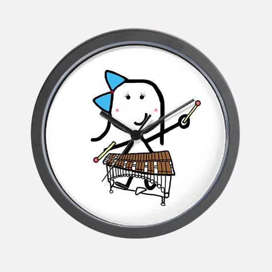 Girl & Pit Percussion Wall Clock