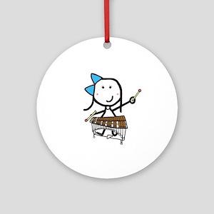 Girl & Pit Percussion Ornament (Round)