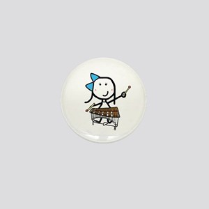 Girl & Pit Percussion Mini Button