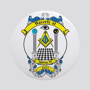 Waverly 51 Lodge Crest Ornament (Round)