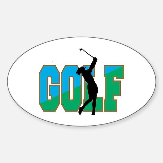 Women's Golf Oval Decal