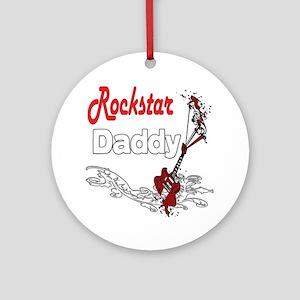 Rockstar Daddy Ornament (Round)
