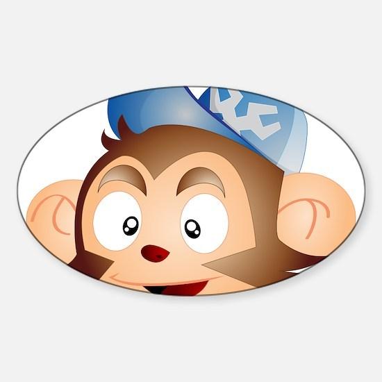 Grease Monkey Sticker (Oval)