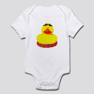 Rubber bather yellow duck Infant Bodysuit