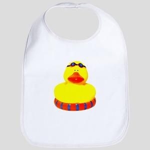 Rubber bather yellow duck Bib
