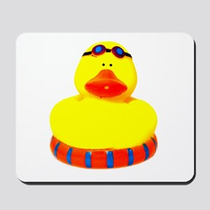 Rubber bather yellow duck Mousepad