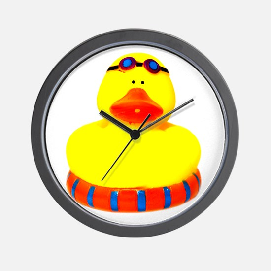 Rubber bather yellow duck Wall Clock