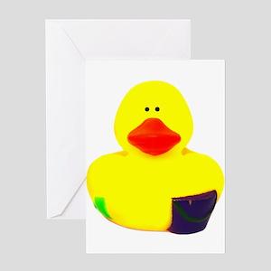 Rubber Duck - Bucket Holder Greeting Card