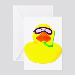 Diving Rubber Duck Greeting Card