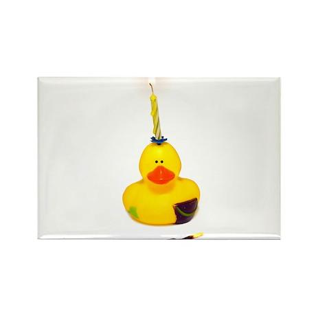 Birthday Duck Rectangle Magnet