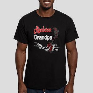 Rockstar Grandpa Men's Fitted T-Shirt (dark)