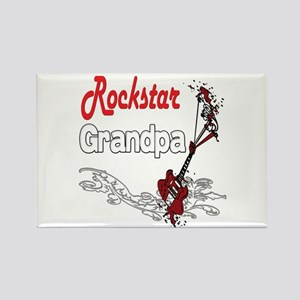 Rockstar Grandpa Rectangle Magnet