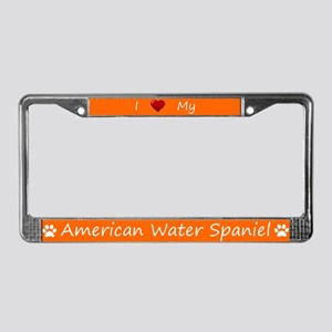 Orange I Love My American Water Spaniel Frame