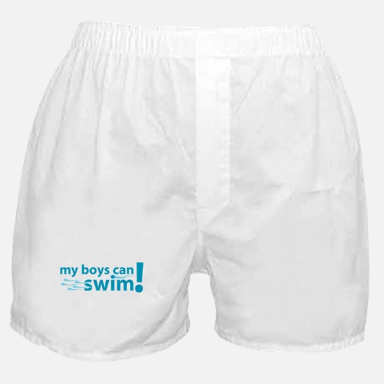 My Boys Can Swim Boxer Shorts