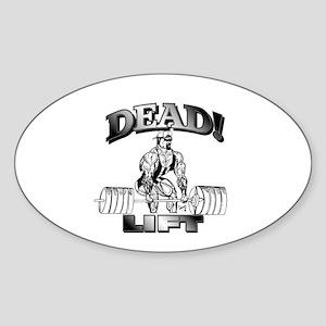 DeadLift T-shirt Oval Sticker