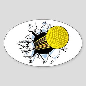 Golf Shot Oval Sticker