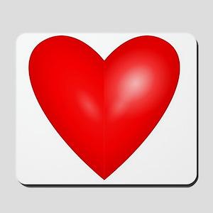 Big Red Heart 1 Mousepad