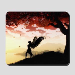 Angel at Dawn Mousepad