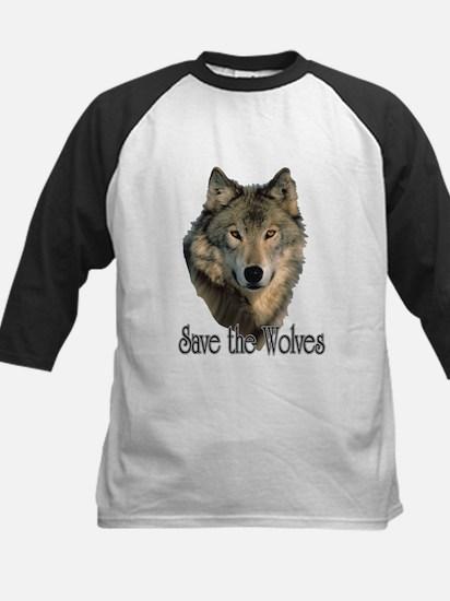 Save Wolves Kids Baseball Jersey
