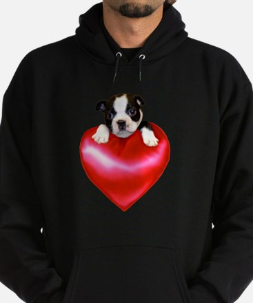 Love Boston Terrier Hoodie (dark)