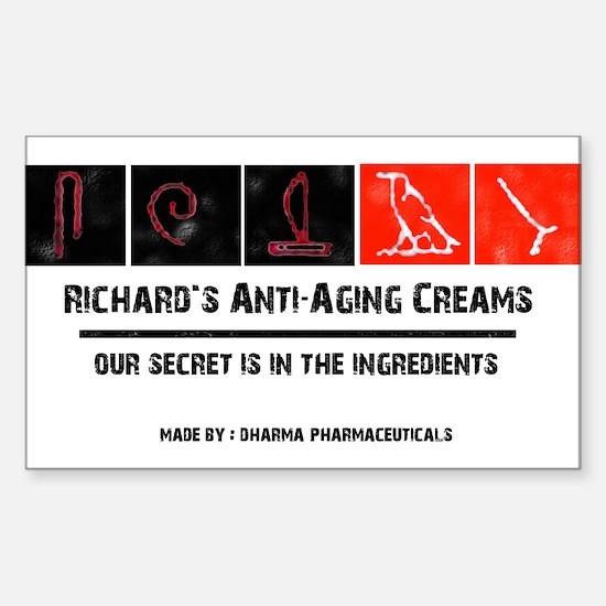 Richard's Anti-Aging Creams Sticker (Rectangle)