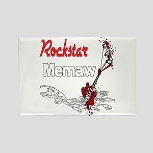Rockstar Memaw Rectangle Magnet
