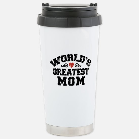 World's Greatest Mom Stainless Steel Travel Mug