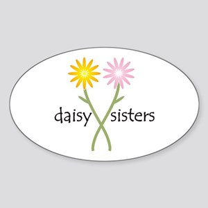 Daisy Sisters Sticker (Oval)