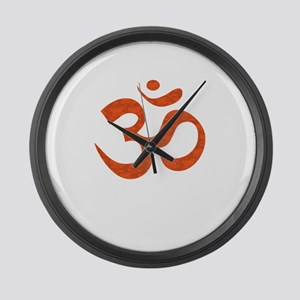 Om Large Wall Clock