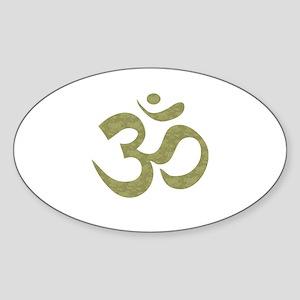 Om Symbol Sticker (Oval)