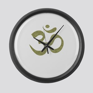 Om Symbol Large Wall Clock