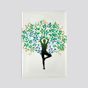 YOGA TREE POSE Rectangle Magnet