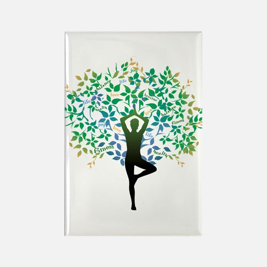 YOGA TREE POSE Rectangle Magnet
