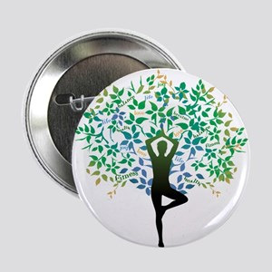 "YOGA TREE POSE 2.25"" Button"