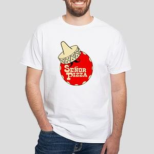 Senor Pizza White T-Shirt