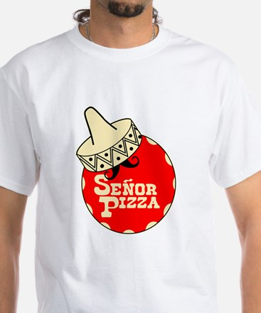 Senor Pizza White T-Shirt