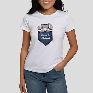 March Baby Announcement Kitty Women's T-Shirt
