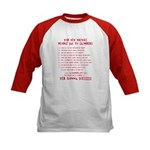 People Say To Climbers Kids Baseball Jersey