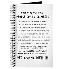 People Say To Climbers Journal