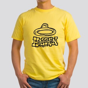 Condoms Happen (right) Yellow T-Shirt